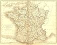 FRANCE: Provinces: Butler Hall, 1844 map
